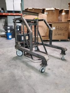 Photo of a Cart Tipper In A Warehouse